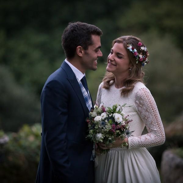 Una novia vestida de Nicolás Costura